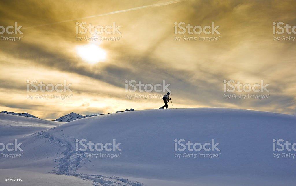 Snowshoing stock photo