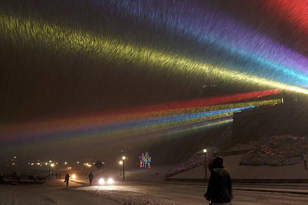 Snowstorm at Niagara Falls – Foto