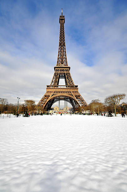 Snowstorm in Paris