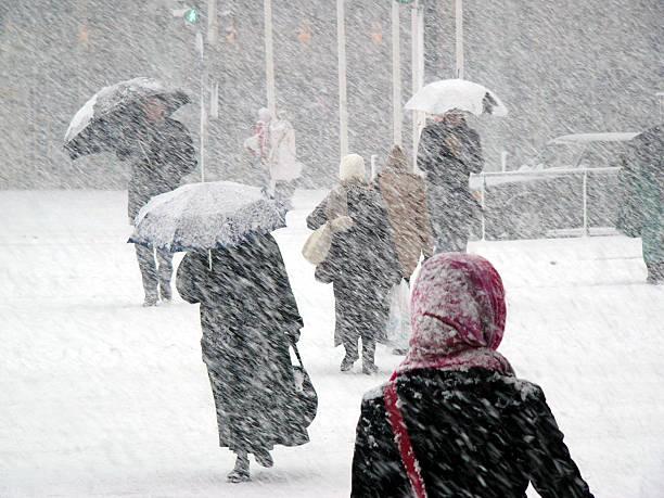 schneesturm - kaltes wetter stock-fotos und bilder