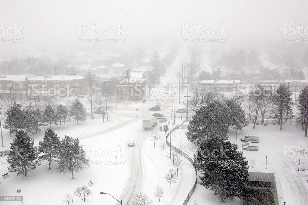 Snowstorm royalty-free stock photo