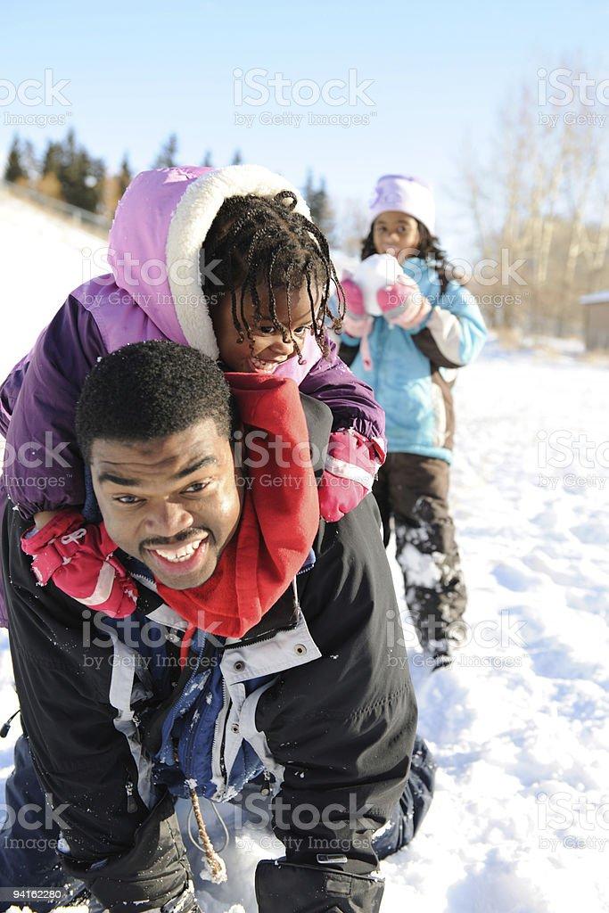 Snowtime Fun royalty-free stock photo