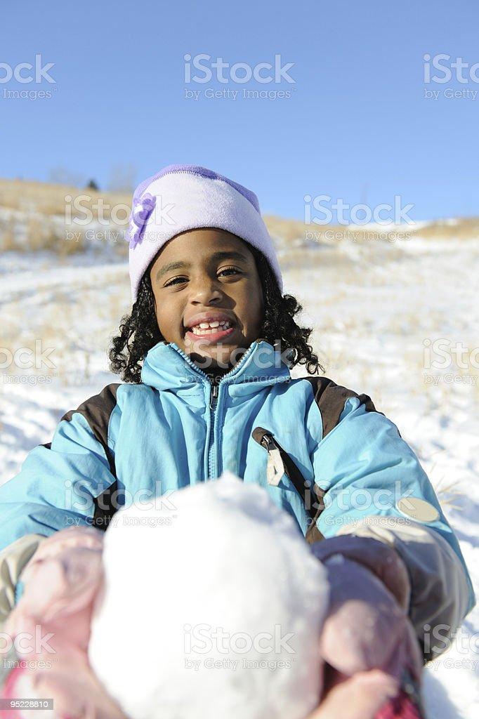 Snowtime Fun stock photo