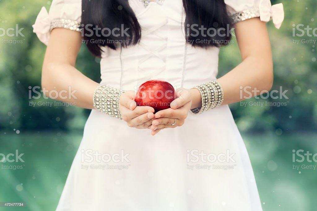 Neige blanche Princess'avec la célèbre pomme rouge - Photo