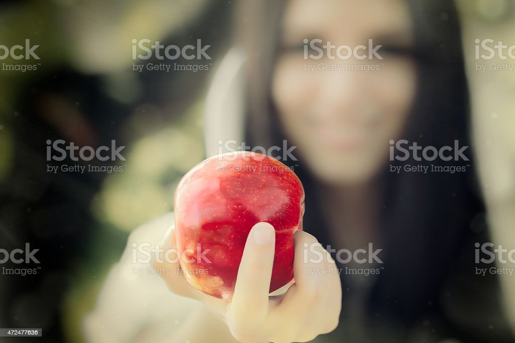 Neige blanche Princess'avec le célèbre pomme rouge - Photo