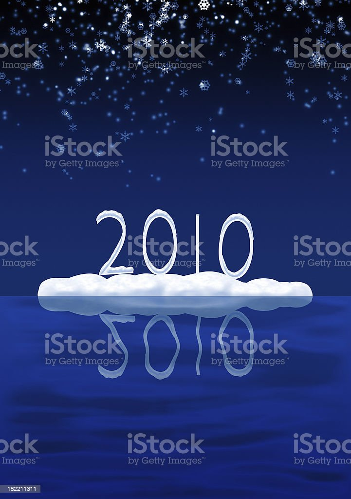 Snowy 2010 royalty-free stock photo