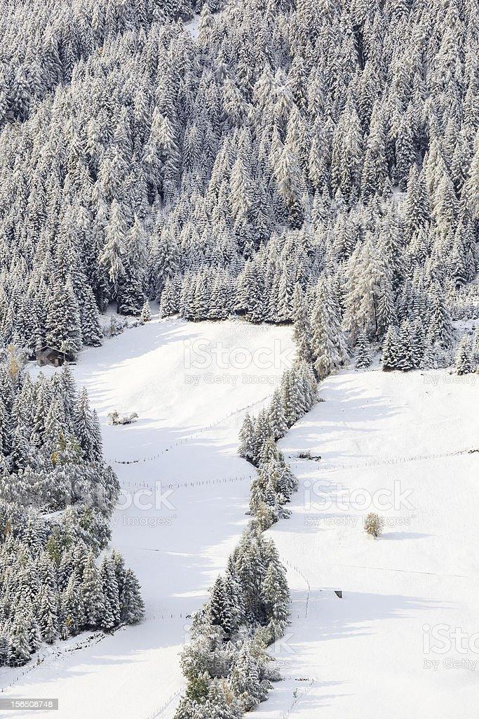 Snowy alp landscape royalty-free stock photo