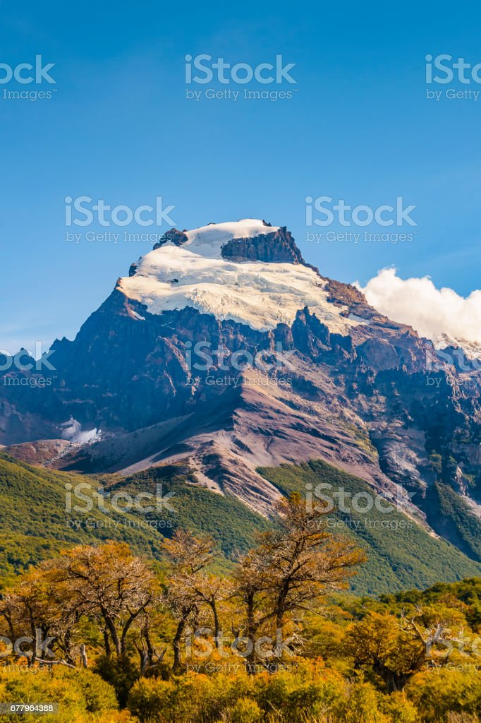 Snowy Andes Mountains, El Chalten Argentina royalty-free stock photo