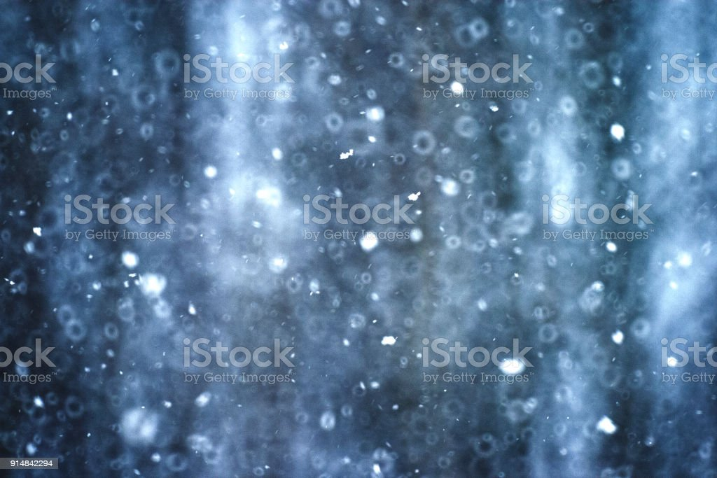 Snowy background, quietly falling snow stock photo