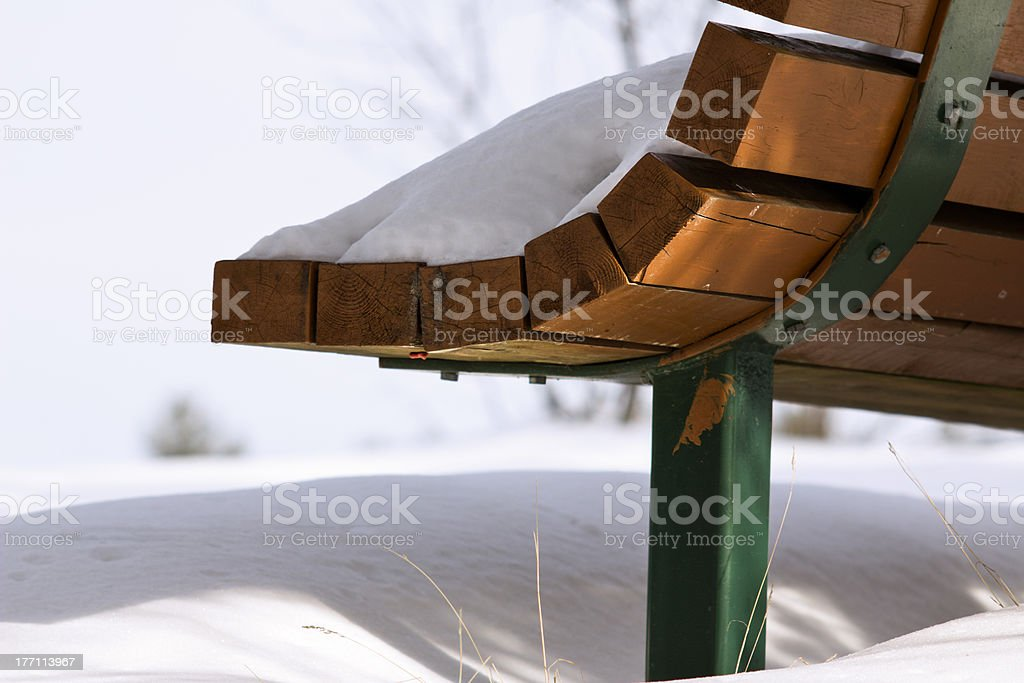 Snowy Bench royalty-free stock photo
