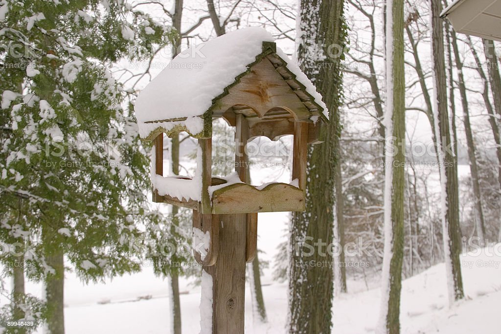 Snowy Birdhouse 2 royalty-free stock photo