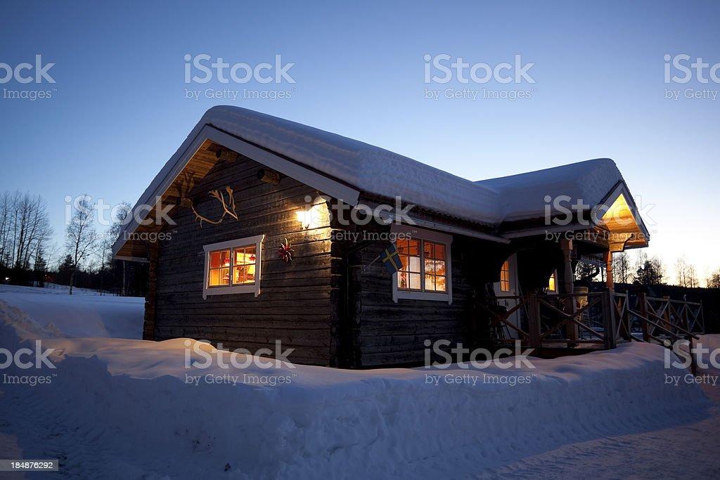 Snowy Cabin royalty-free stock photo