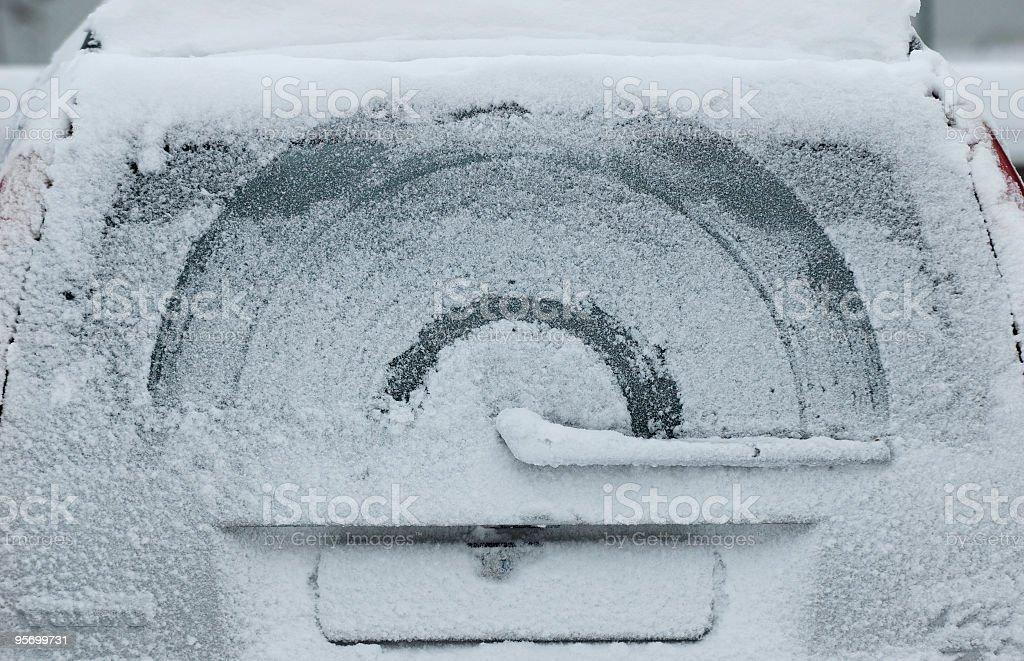 snowy Auto Fenster – Foto
