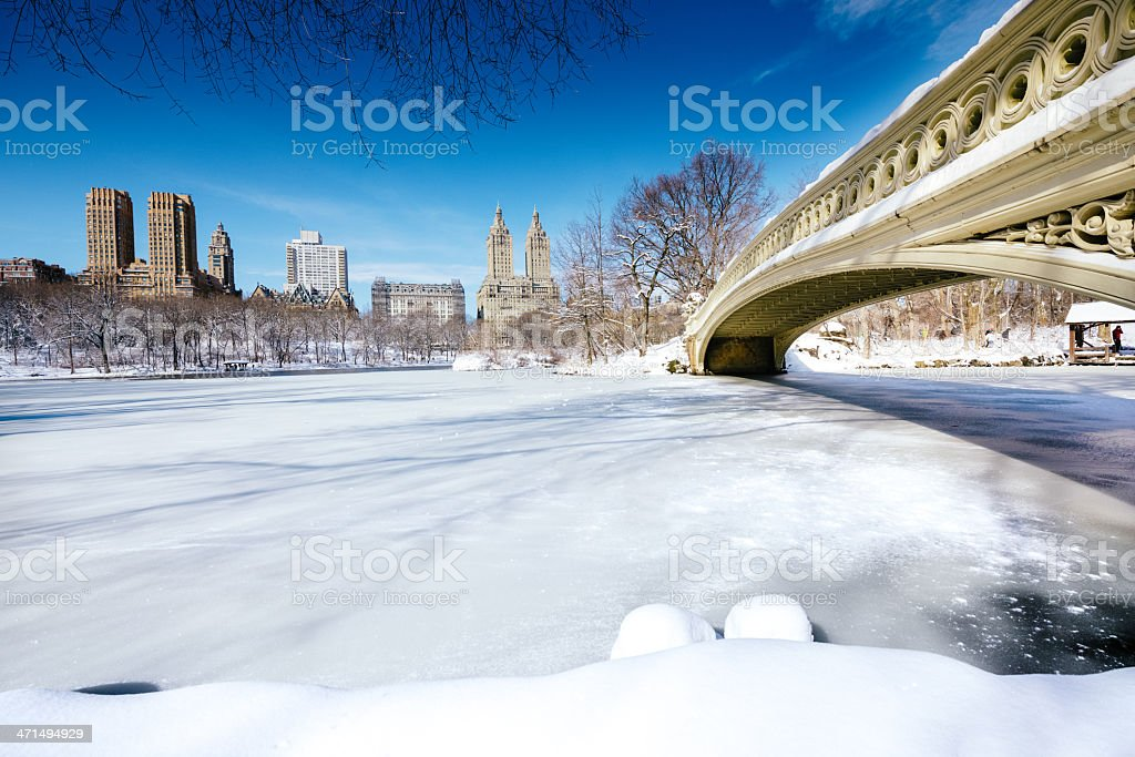 Snowy Central Park New York royalty-free stock photo