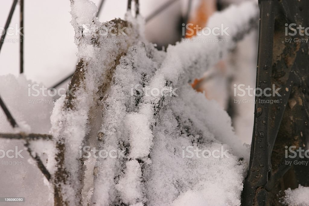 Snowy chain royalty-free stock photo