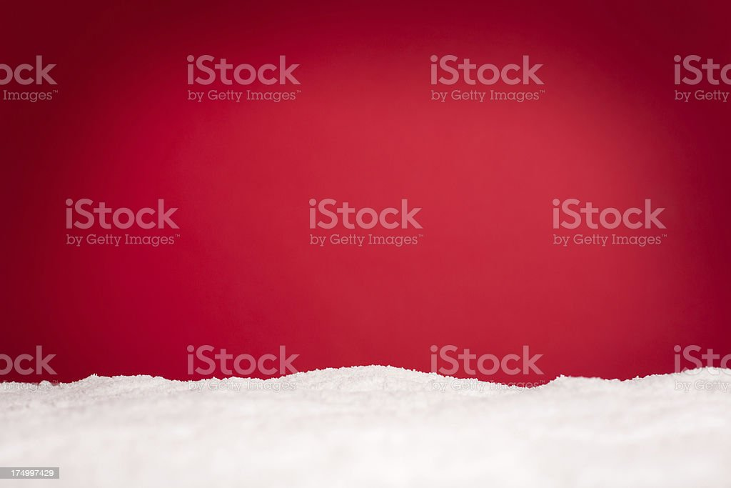 Snowy Christmas Background, With Copy Space - Royalty-free Backgrounds Stock Photo