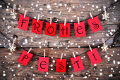 istock Snowy Christmas Background with the Words Frohes Fest 509823079