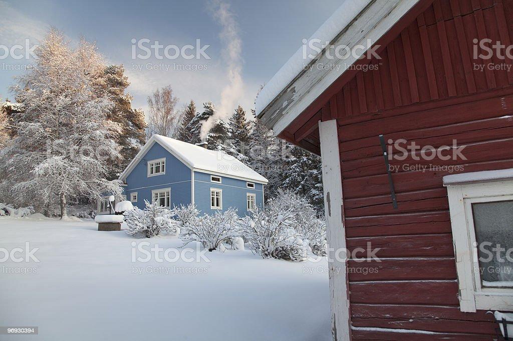 Snowy Courtyard royalty-free stock photo