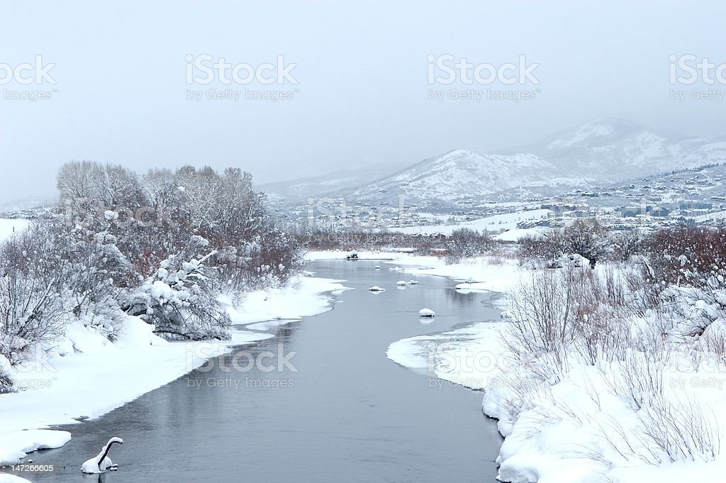 Snowy Creek stock photo