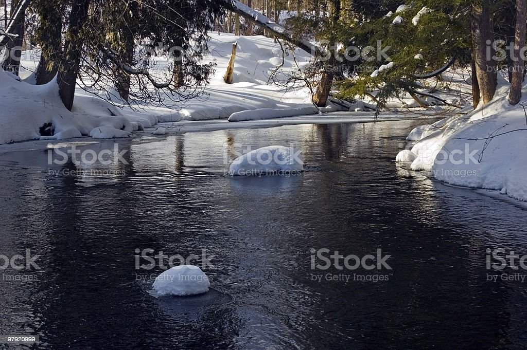 Snowy creek royalty-free stock photo