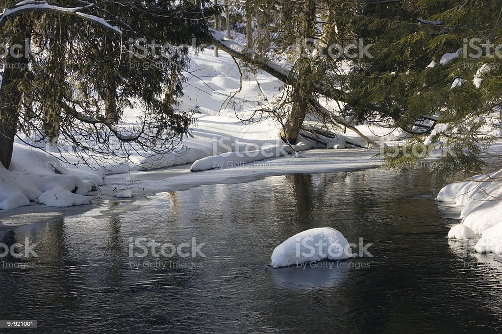 Snowy creek royalty-free stock photo