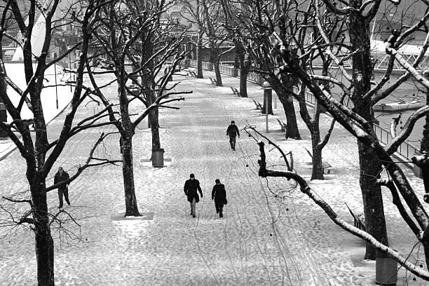 Schnee Tag in London – Foto