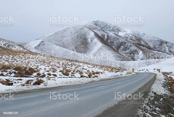 Photo of Snowy Day on Lindis Pass, Otago Region, NZ