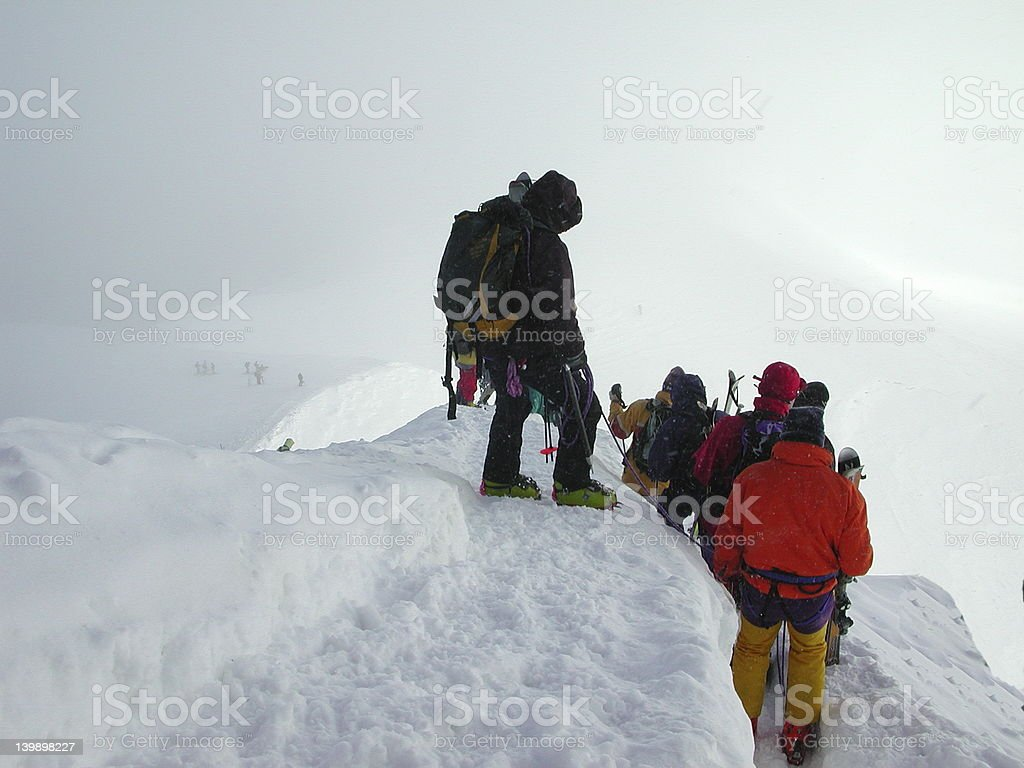 Snowy Descent stock photo