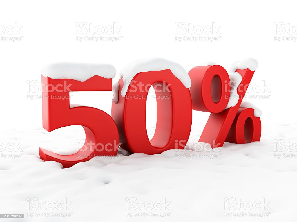 snowy discount. Winter Sale concept stock photo