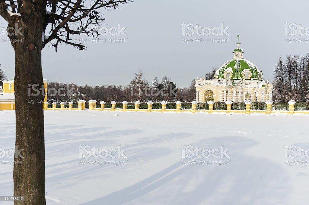 Snowy Fields royalty-free stock photo