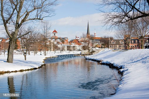 istock Snowy Frederick Maryland Park and Flowing Creek 182503930