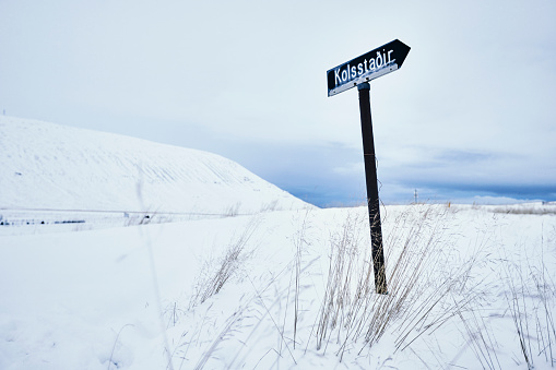 Snowy Iceland Sign