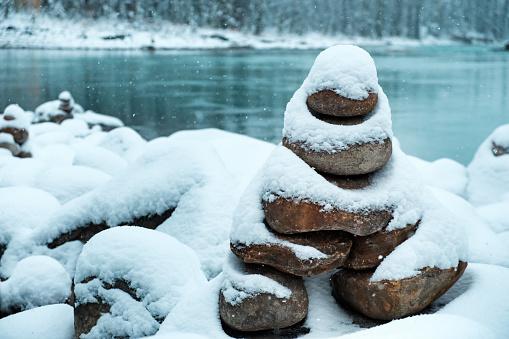 Snowy Inuksuk