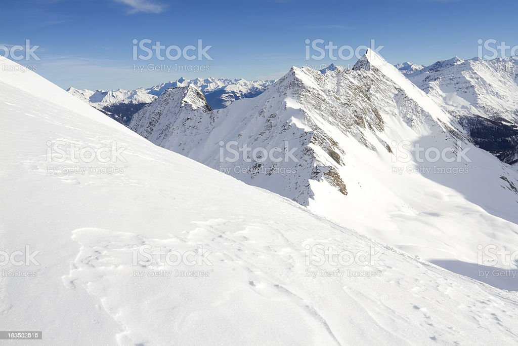 Snowy Italian Alps in winter time royalty-free stock photo