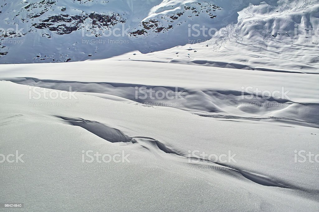 snowy landscape in alps royalty-free stock photo