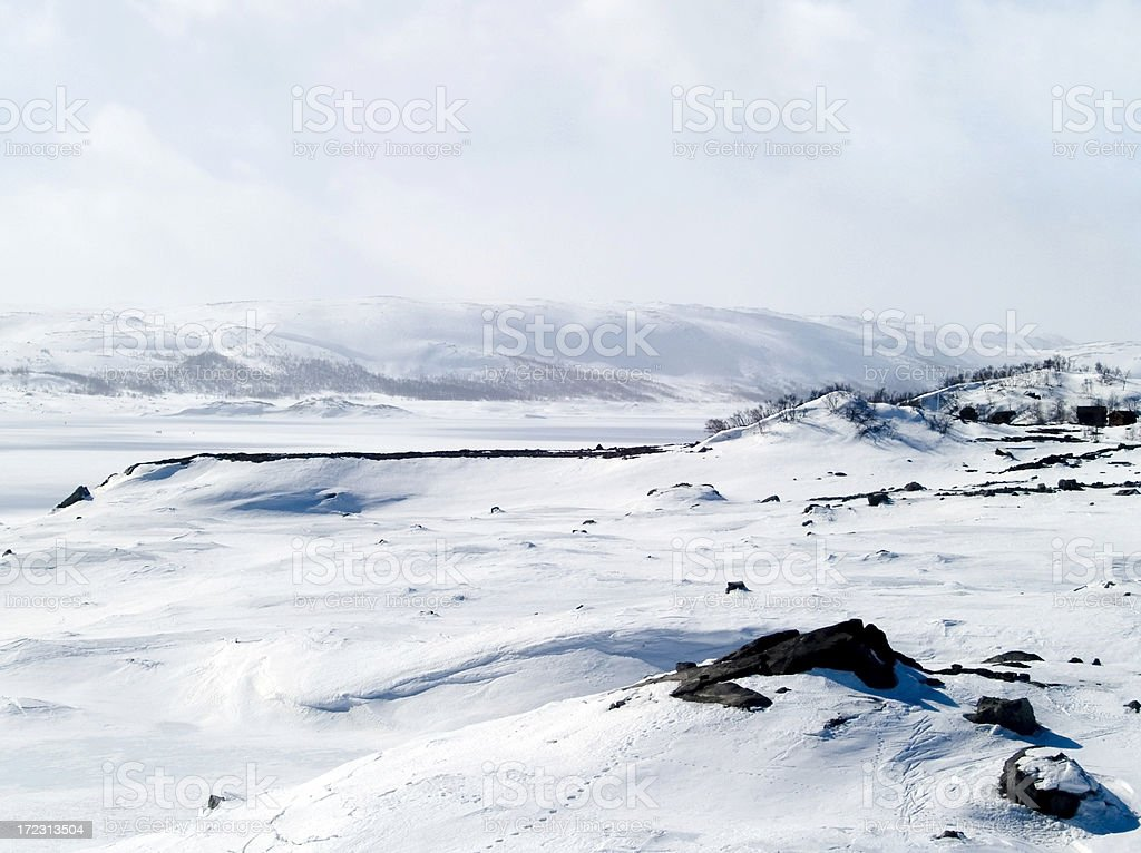 Snowy landscape in Norway royalty-free stock photo