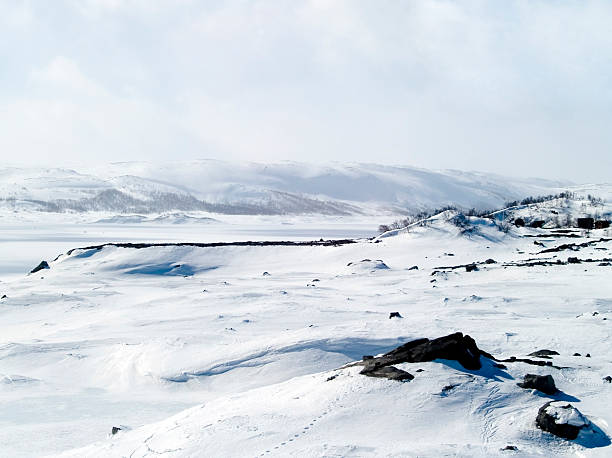 Verschneite Landschaft in Norwegen – Foto