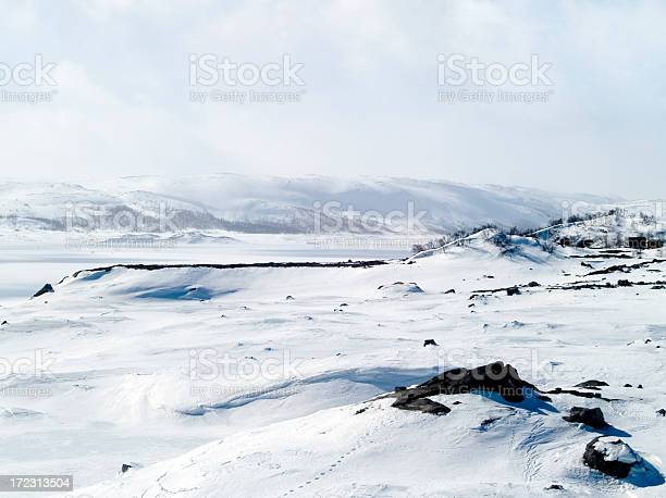 Photo of Snowy landscape in Norway