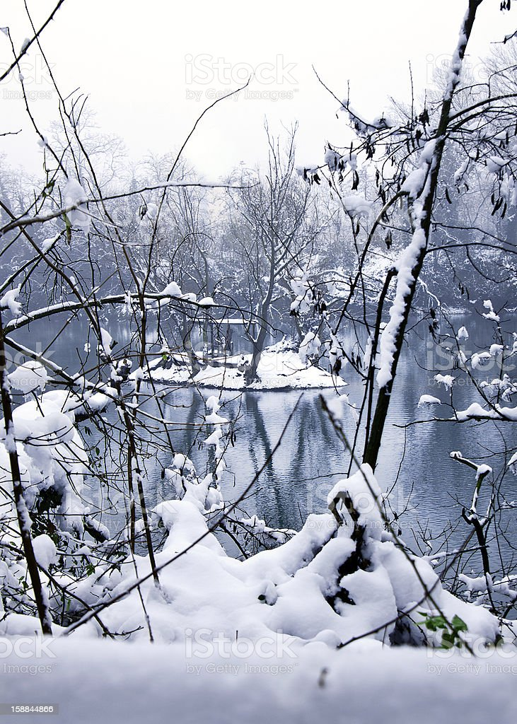 Snowy landscape royalty-free stock photo