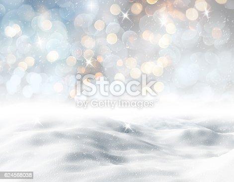istock 3D snowy landscape 624568038