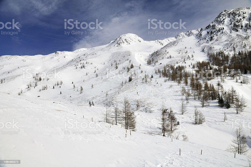 Snowy mountain landscape royalty-free stock photo