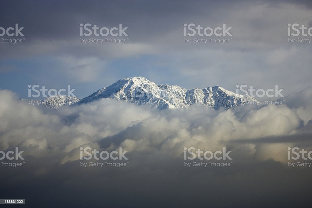 Snowy Mountain stock photo