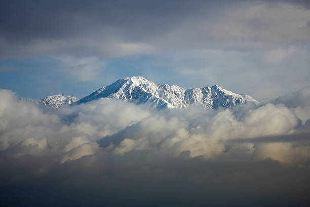 Snowy Mountain This is a time lapse shot of Mt. Baldy just after a snowstorm. mount baldy stock pictures, royalty-free photos & images