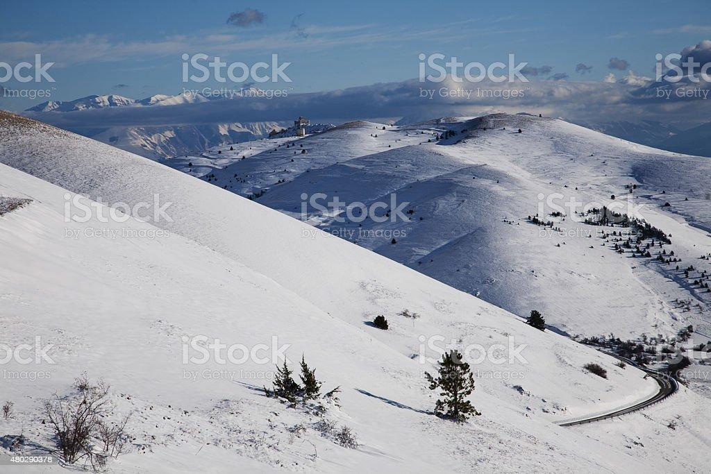 Nívea a las montañas - foto de stock