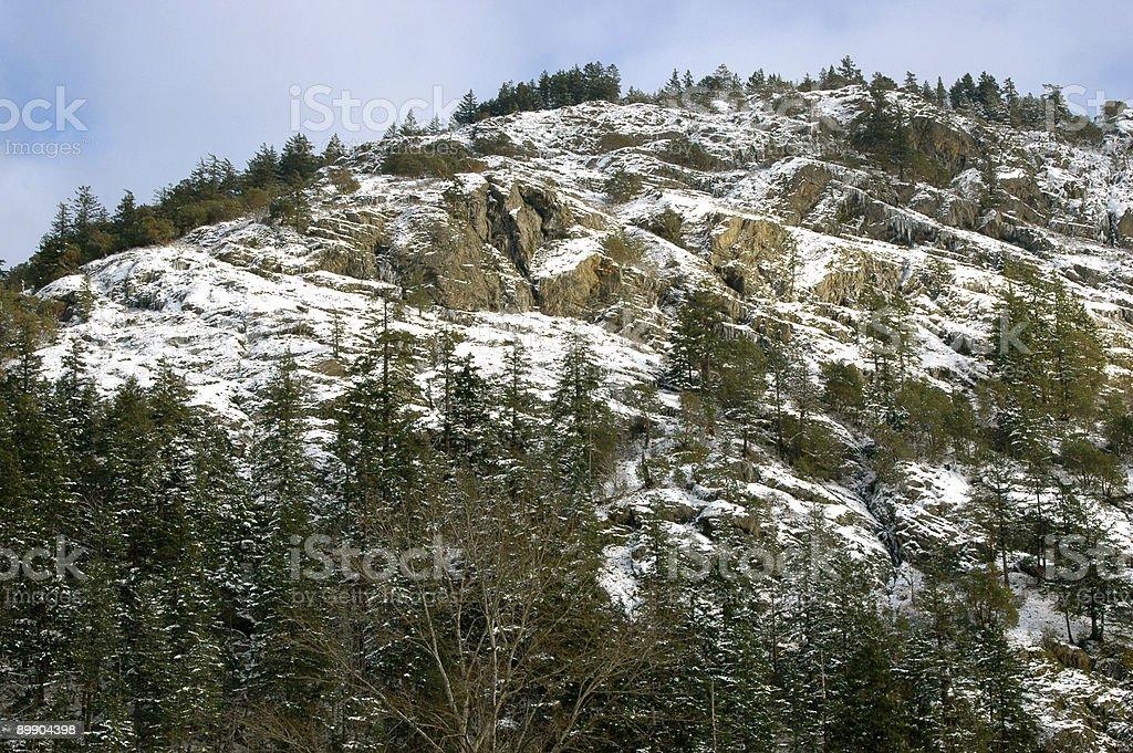 Snowy mountain Lizenzfreies stock-foto