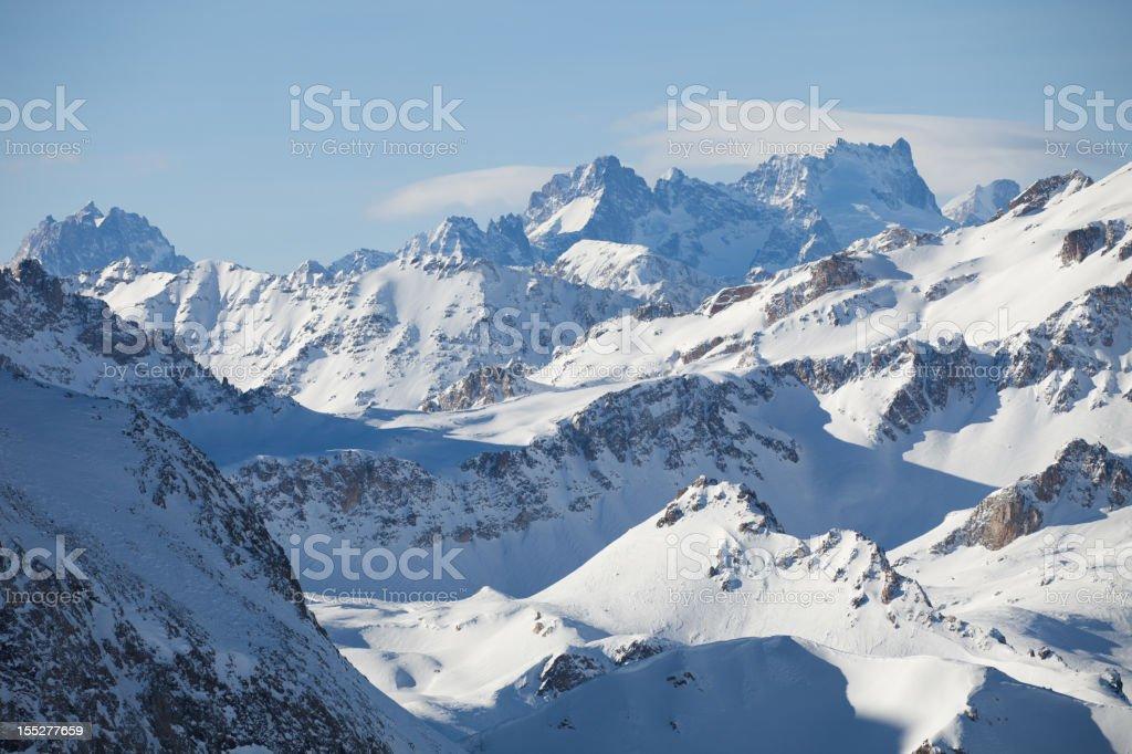 Snowy mountain range royalty-free stock photo