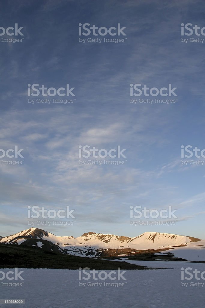 Snowy Mountains and Sky royalty-free stock photo