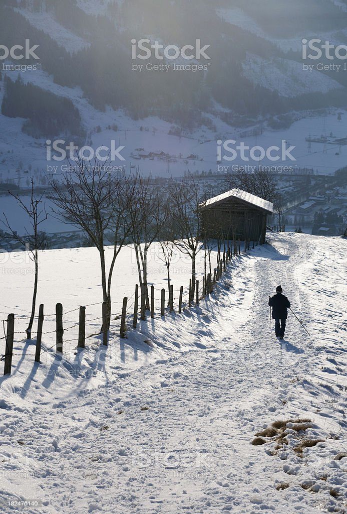 Snowy mountains in Austria stock photo