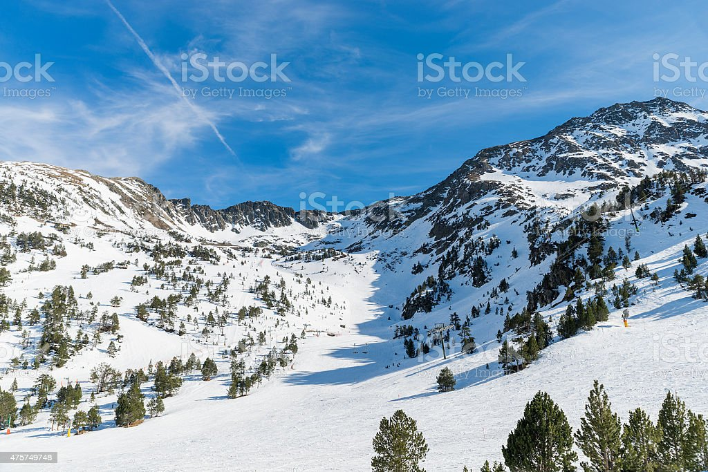 Montanhas Nevadas - foto de acervo