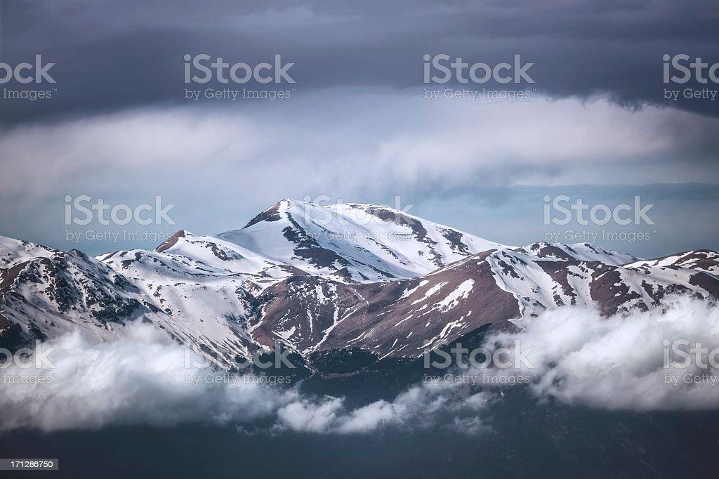 Snowy Mountains summit royalty-free stock photo